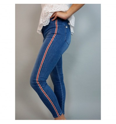 JEANS ONE SIZE CON FRANJAS  LATERALES